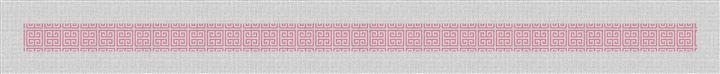Pink Geometry Needlepoint Belt Canvas
