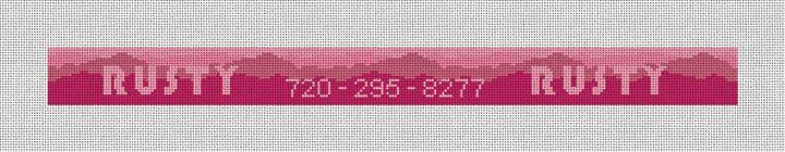Pink Mountain Dog Collar Needlepoint Kit