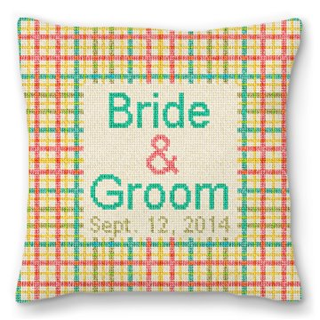 Plaid Personalized Ring Bearer Pillow