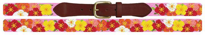 Plentiful Poppies Needlepoint Belt