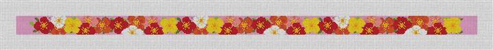 Plentiful Poppies Needlepoint Belt Canvas