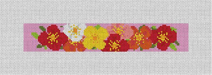 Plentiful Poppies Needlepoint Key Fob Canvas