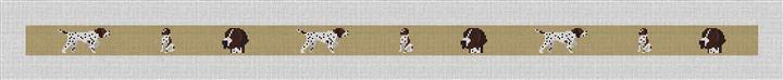 Pointer Needlepoint Belt Canvas