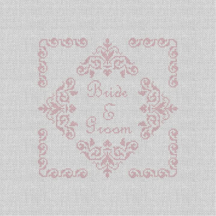 Poitiers Ring Bearer Pillow Needlepoint Canvas