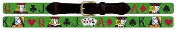 Poker Needlepoint Belt