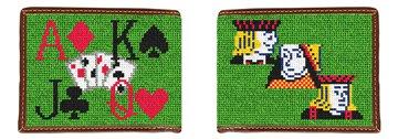 Poker Needlepoint Wallet