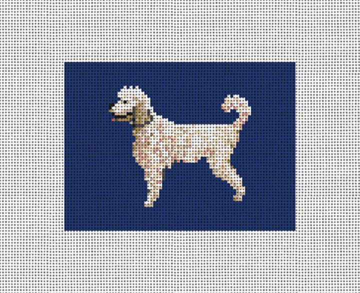 Poodle Needlepoint Card Wallet Canvas