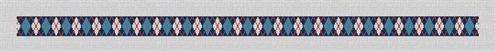 Preppy Blue Argyle Needlepoint Belt Canvas