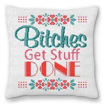 Preppy Ideas Needlepoint Pillow