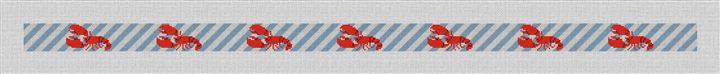 Preppy Lobster Needlepoint Belt Canvas