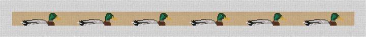 Preppy Mallard Needlepoint Belt Canvas