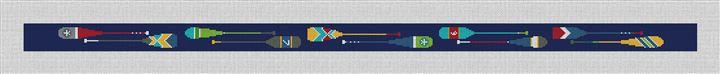 Preppy Paddle Needlepoint Belt Canvas