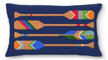 Preppy Paddle Needlepoint Pillow