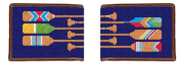 Preppy Paddle Needlepoint Wallet