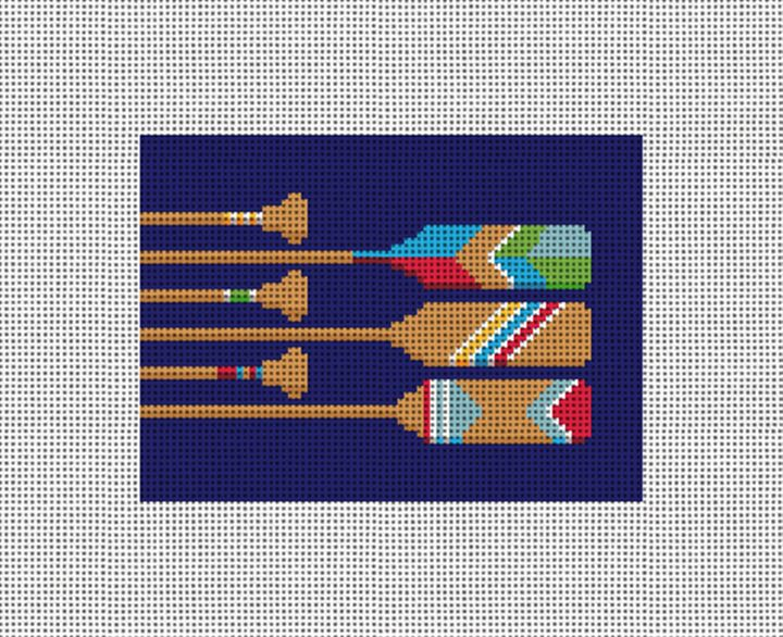 Preppy Paddles Needlepoint Card Wallet Canvas