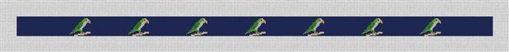 Preppy Parrot Needlepoint Belt Canvas