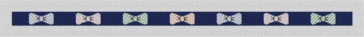 Preppy Seersucker Bow Ties Needlepoint Belt Canvas