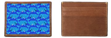 Preppy Whale Needlepoint Card Wallet