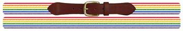 Pride Stripe Needlepoint Belt