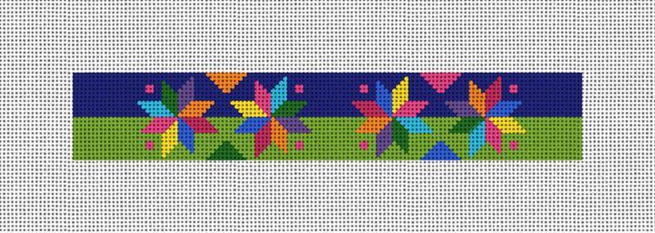 Quilt Stars Needlepoint Key Fob Canvas