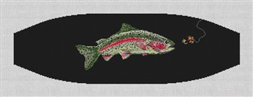 Rainbow Trout Cummerbund Needlepoint Canvas
