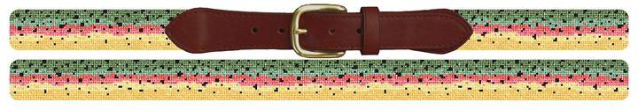 Rainbow Trout Skin Needlepoint Belt