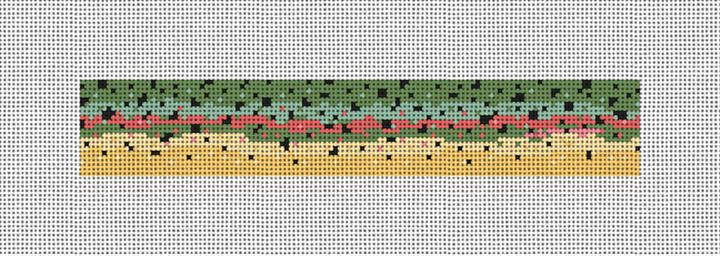 Rainbow Trout Skin Needlepoint Key Fob Canvas