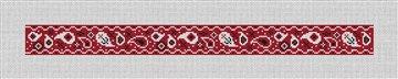 Red Bandana Needlepoint Dog Collar Canvas