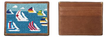 Regatta Needlepoint Card Wallet