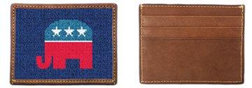 Republican Needlepoint Card Wallet