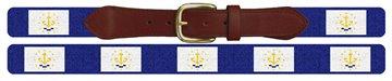 Rhode Island Flag Needlepoint Belt