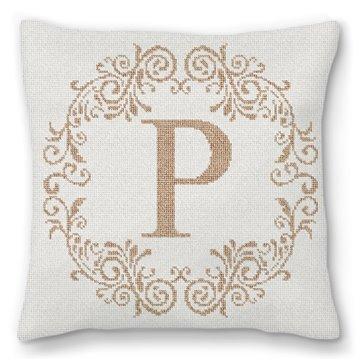 Rochelle Letter Needlepoint Pillow