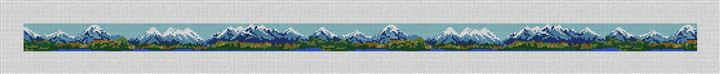 Rocky Mountain Needlepoint Belt Canvas