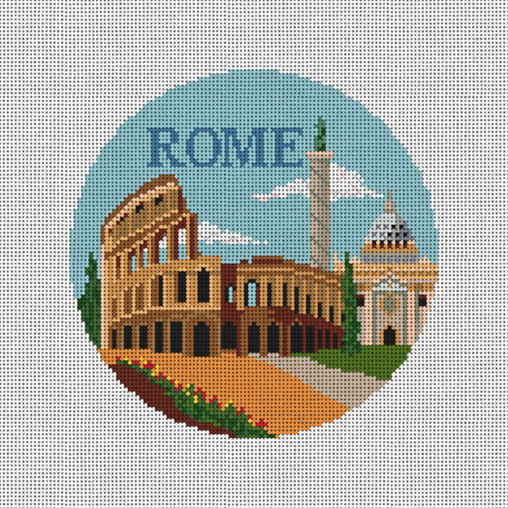 Rome Needlepoint Ornament Canvas