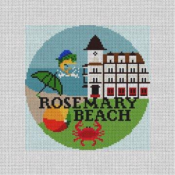Rosemary Beach Needlepoint Ornament Canvas