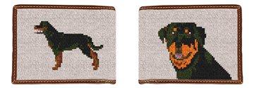 Rottweiler Needlepoint Wallet