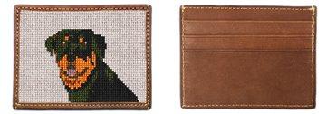Rottweiler Portrait Needlepoint Card Wallet