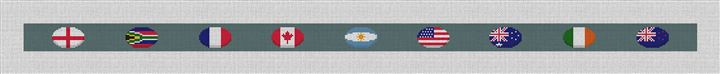 Rugby Nations Needlepoint Belt Canvas
