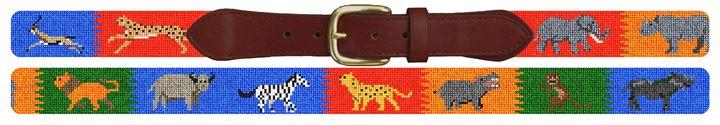Safari Adventure Needlepoint Belt