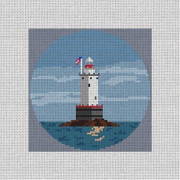 Sakonnet Lighthouse Finished Needlepoint Ornament