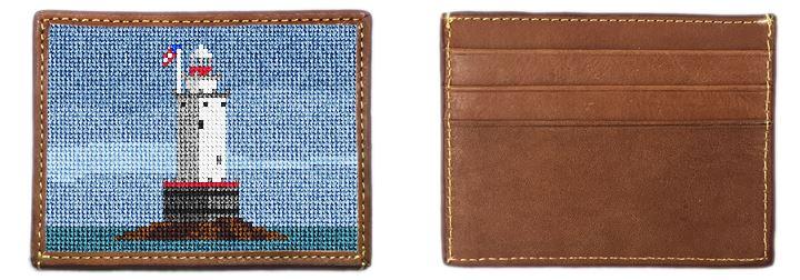 Sakonnet Lighthouse Needlepoint Card Wallet