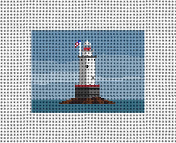 Sakonnet Lighthouse Needlepoint Card Wallet Canvas