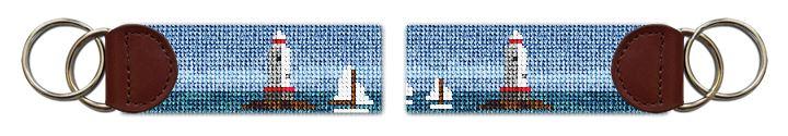 Sakonnet Lighthouse Needlepoint Key Fob