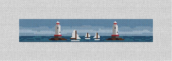 Sakonnet Lighthouse Needlepoint Key Fob Canvas