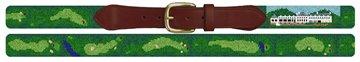 Salem Country Club Golf Course Needlepoint Belt