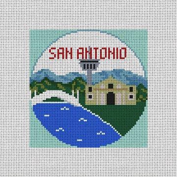 San Antonio Needlepoint Ornament Canvas
