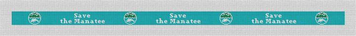 Save The Manatee Lt. Blue Needlepoint Belt Canvas