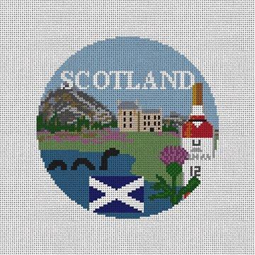 Scotland Needlepoint Ornament Canvas