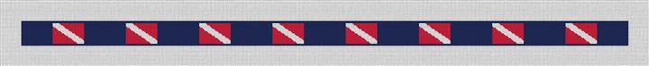 Scuba Diving Flag Needlepoint Belt Canvas