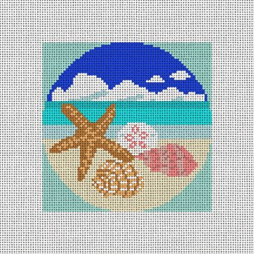 Sea Shells Needlepoint Ornament Canvas